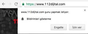 Web Push Notification İzin